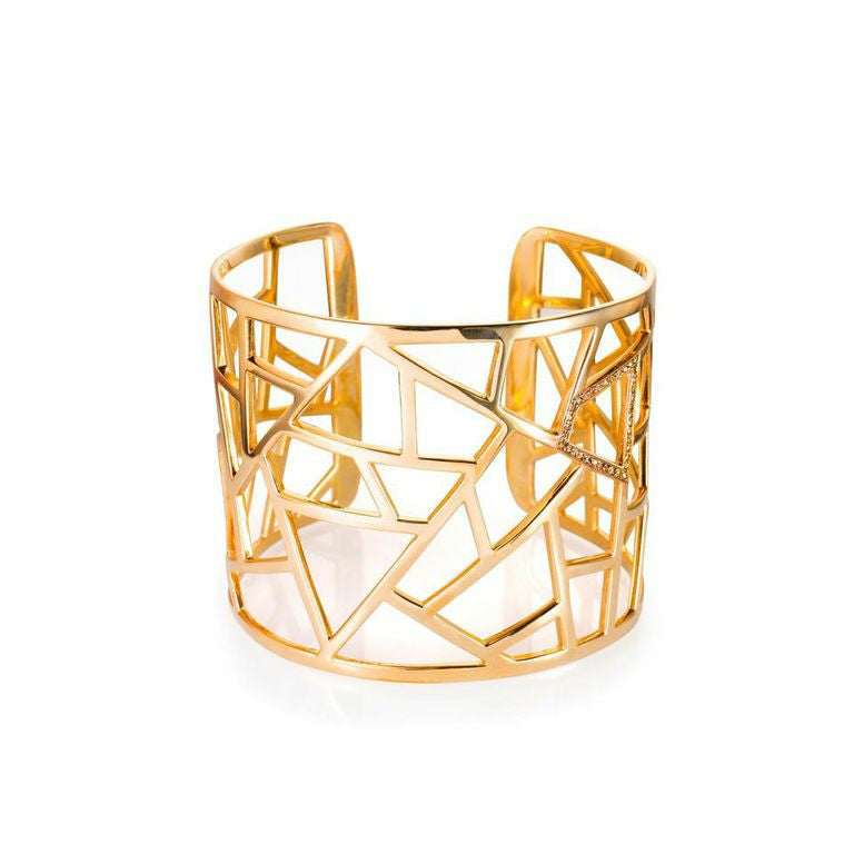Lattice Large Cuff - gold plate