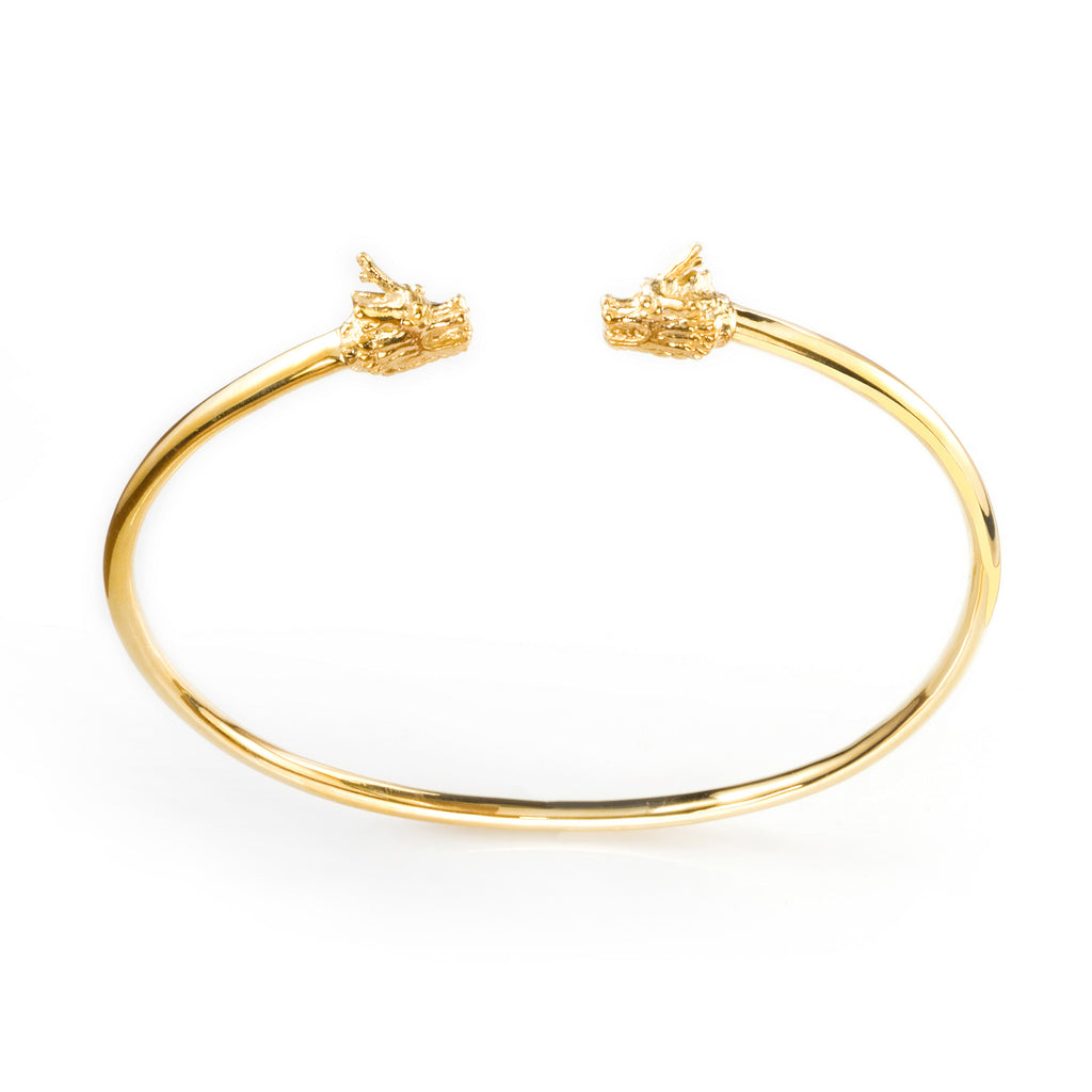 Dragon Double Head Cuff - gold