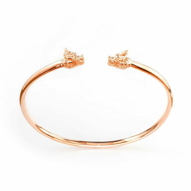 Dragon Double Head Cuff - rose gold
