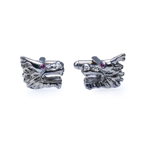 Dragon Cufflinks with Semi-Precious Stones
