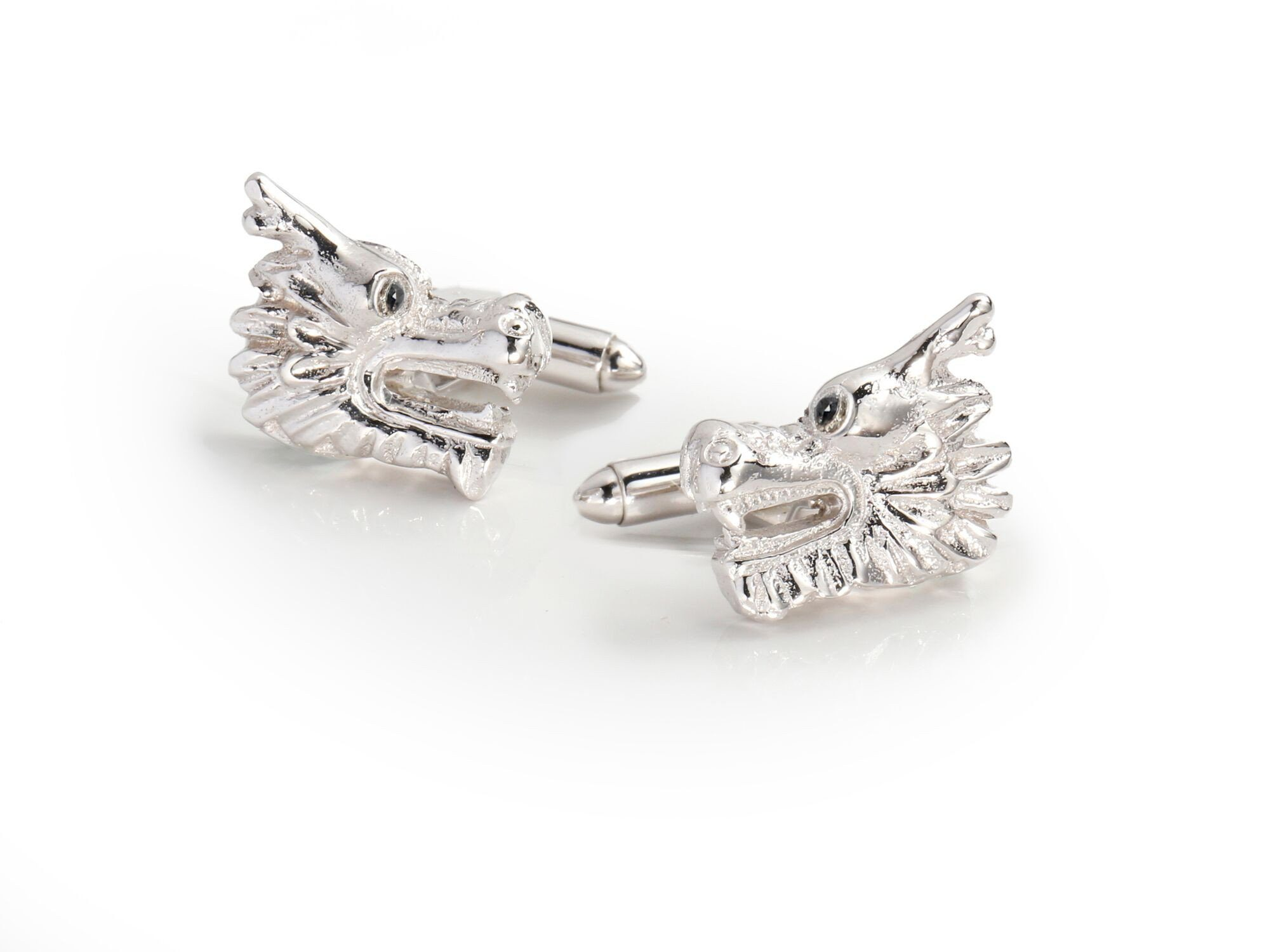 Cufflink - Dragon Cufflinks With Semi-Precious Stones