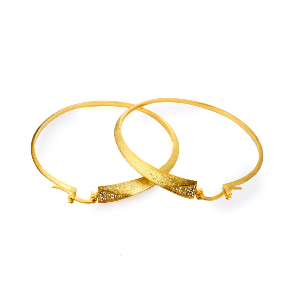 Mantra Dagger Hoops with Swarovski Crystals - gold