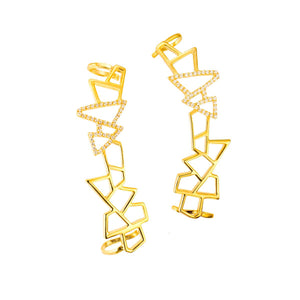 Lattice Ear Cuff - gold