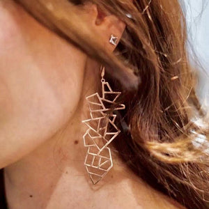 Earrings - Lattice Long Multi Lattice Drop Earring