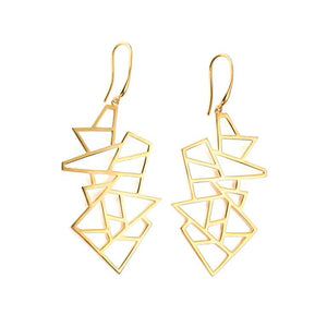 Lattice Multi Lattice Drop Earring - gold