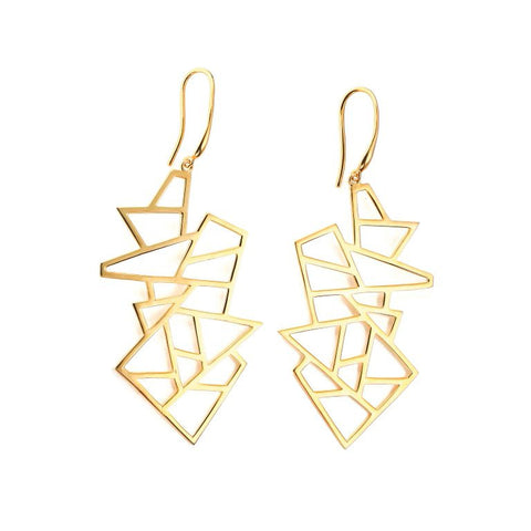 Multi Lattice Drop Earring