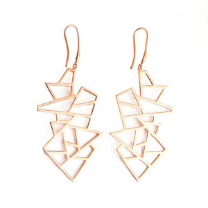 Lattice Multi Lattice Drop Earring - rose gold