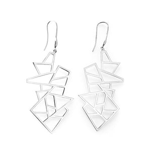 Lattice Multi Lattice Drop Earring - rhodium