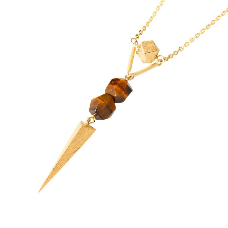 Necklace - Dagger With Mantra Cube