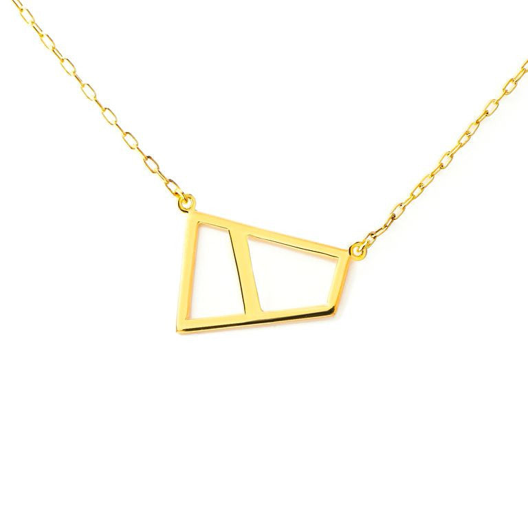 Lattice Double Necklace - gold
