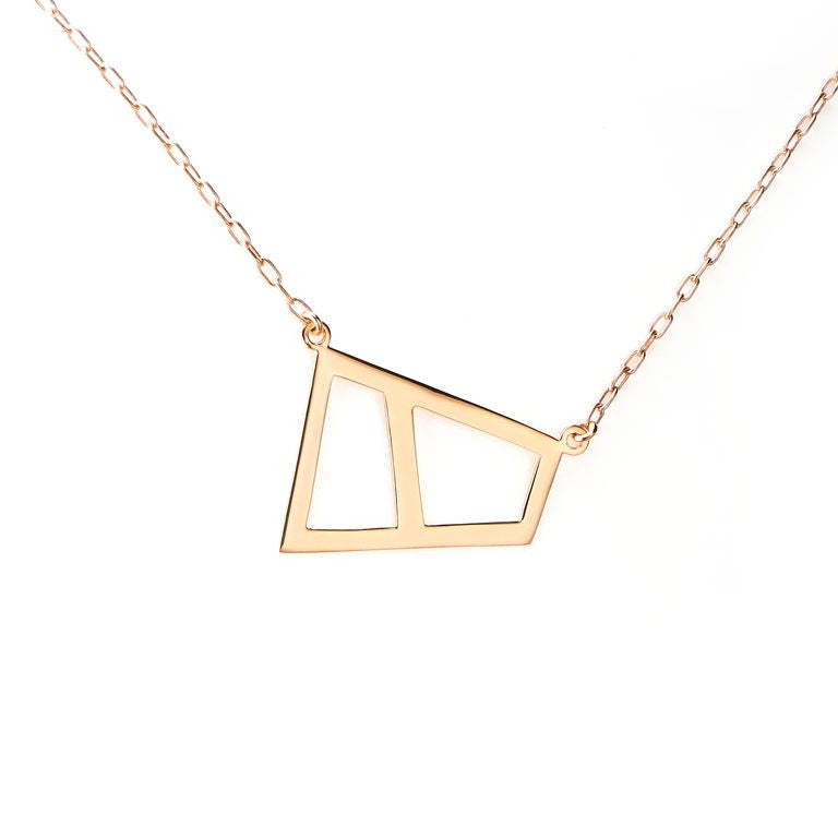 Lattice Double Necklace - rose gold