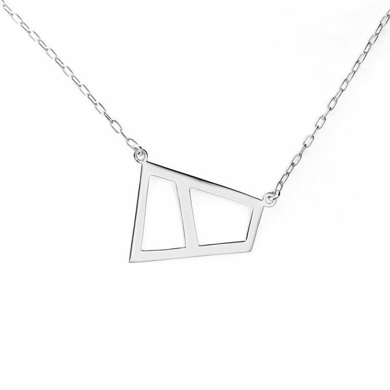 Lattice Double Necklace - rhodium