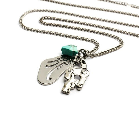Dragon with Charms Necklace