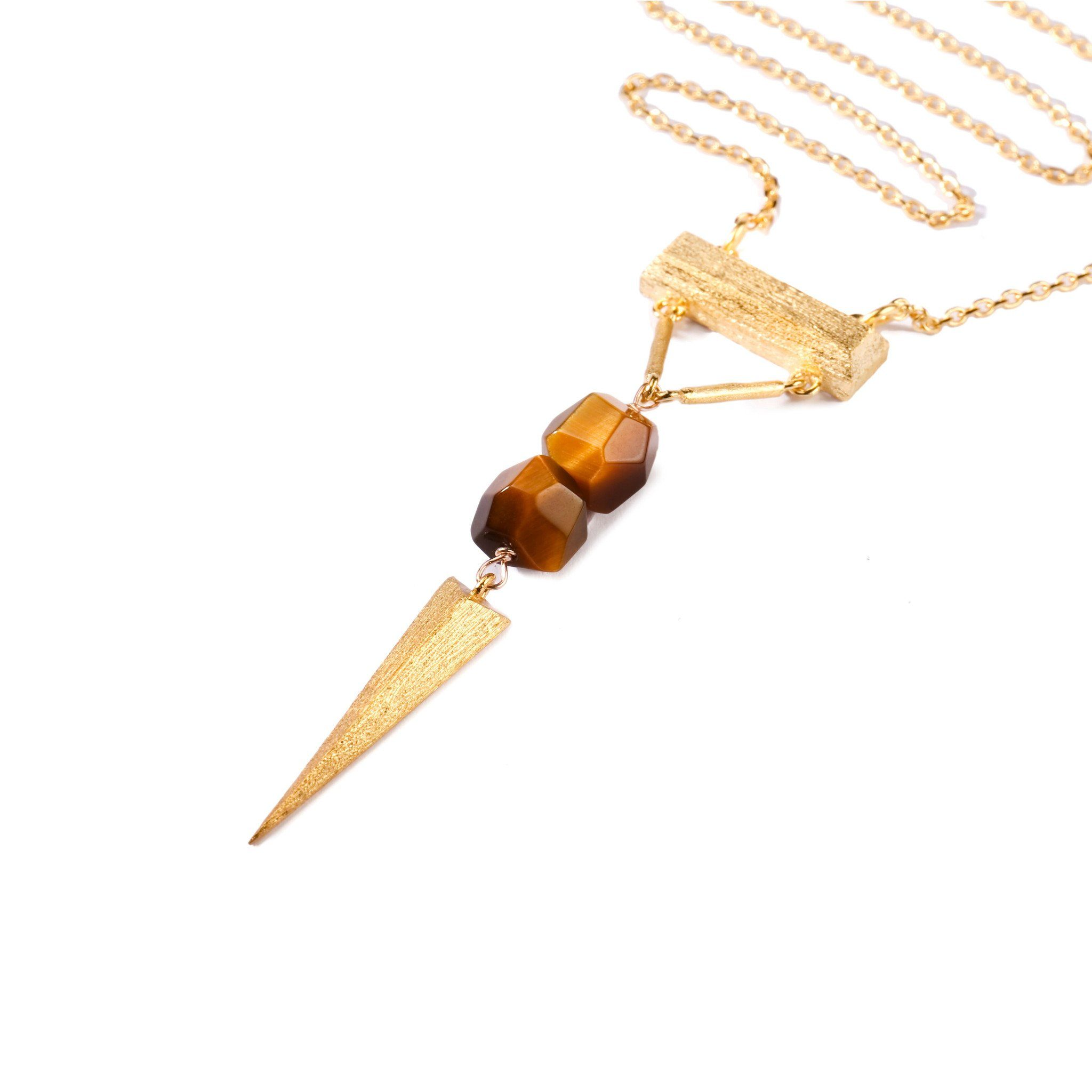 Necklace - Mantra Dagger With Horizontal Bar Necklace