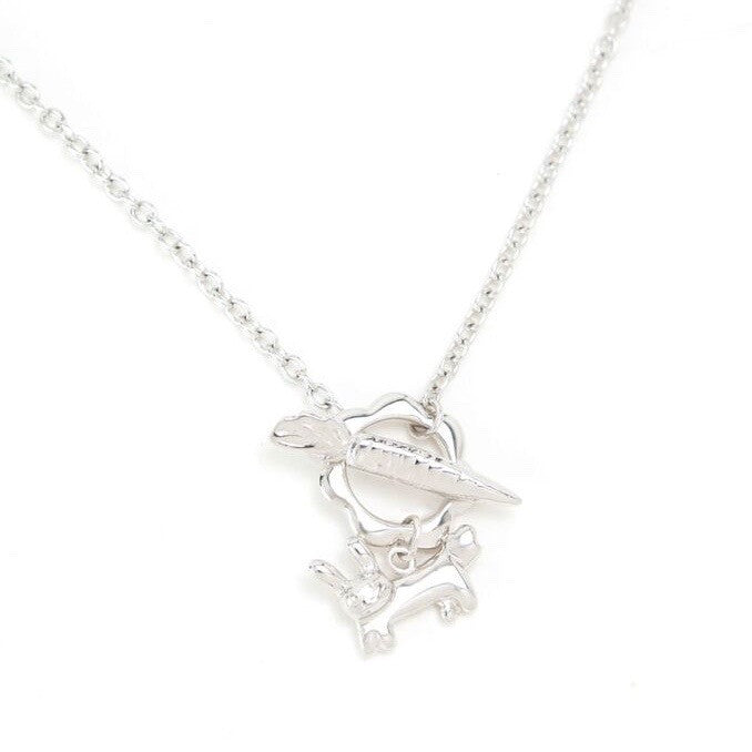 Mimi Too Animal Necklace Sterling Silver, Rhodium Plate - bunny