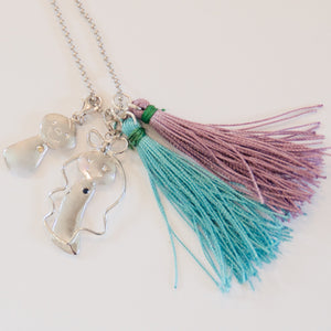 Mimi Too Kids' Necklace on beaded chain with tassels