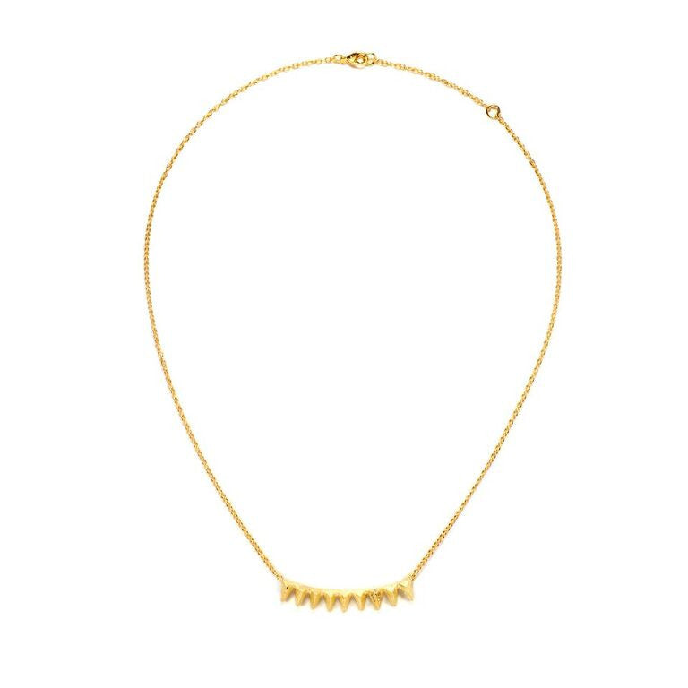 Mantra Multi Triangle Necklace with Swarovski crystals - gold