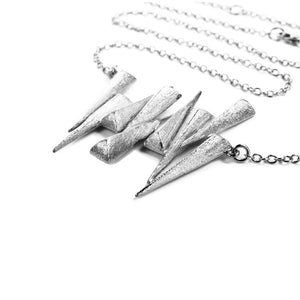 Mantra Nine Daggers Necklace and rhodium