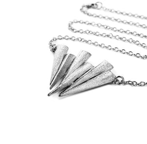 Mantra Six Dagger Necklace - rhodium