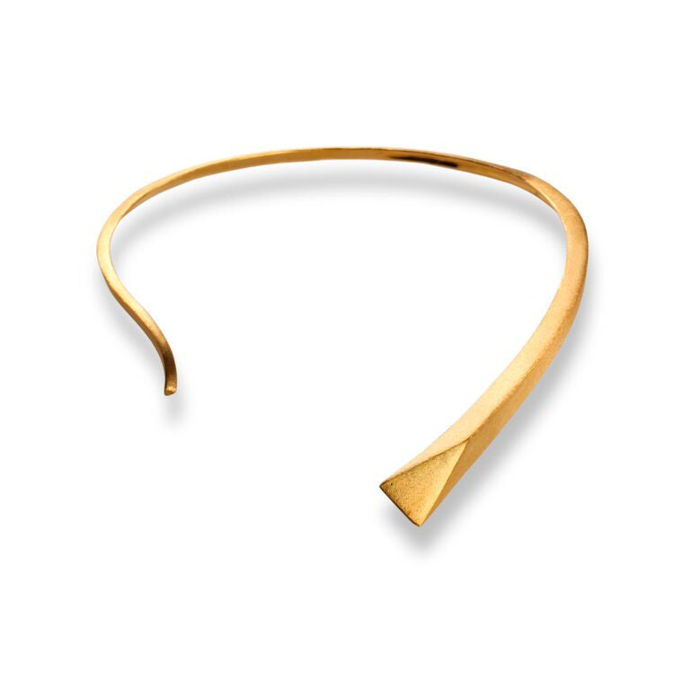 Mantra Small Dagger Collar - gold