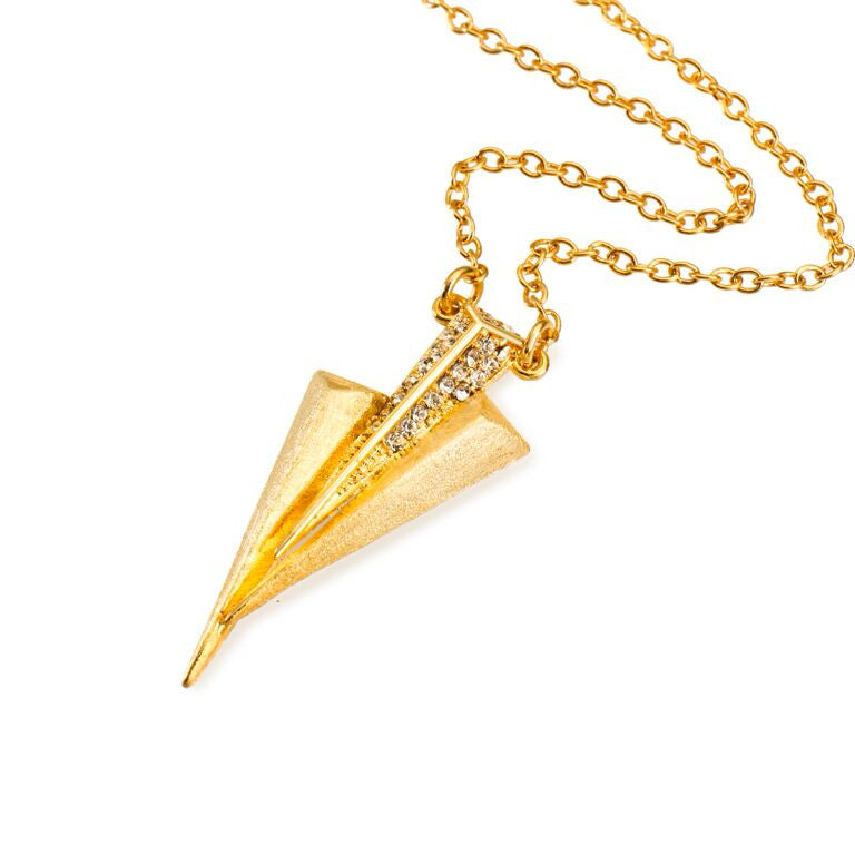 Mantra Three Daggers Necklace - Swarovski Crystals