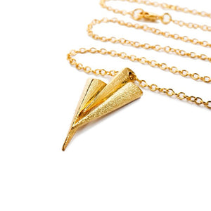 Mantra Three Daggers Necklace - gold