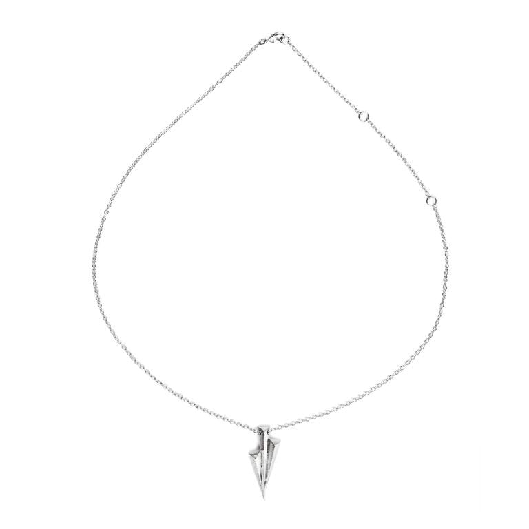 Mantra Three Daggers Necklace - rhodium