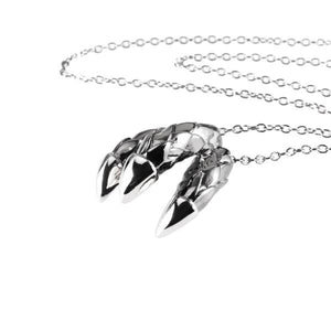 Dragon Triple Claw Necklace - black plate