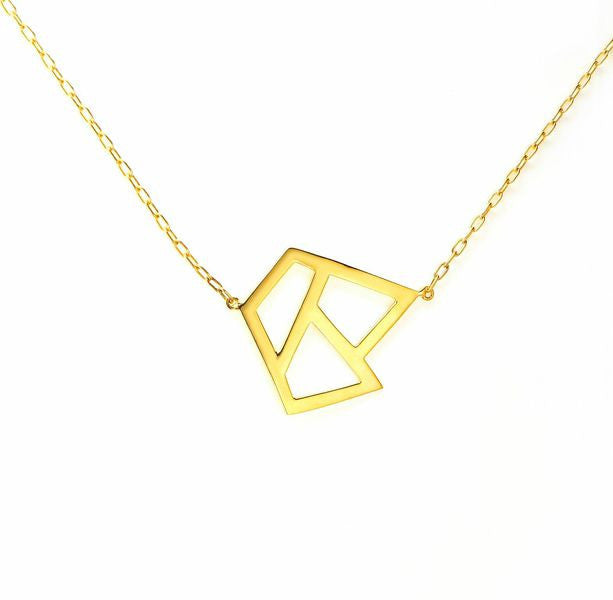 Lattice Triple Necklace - gold