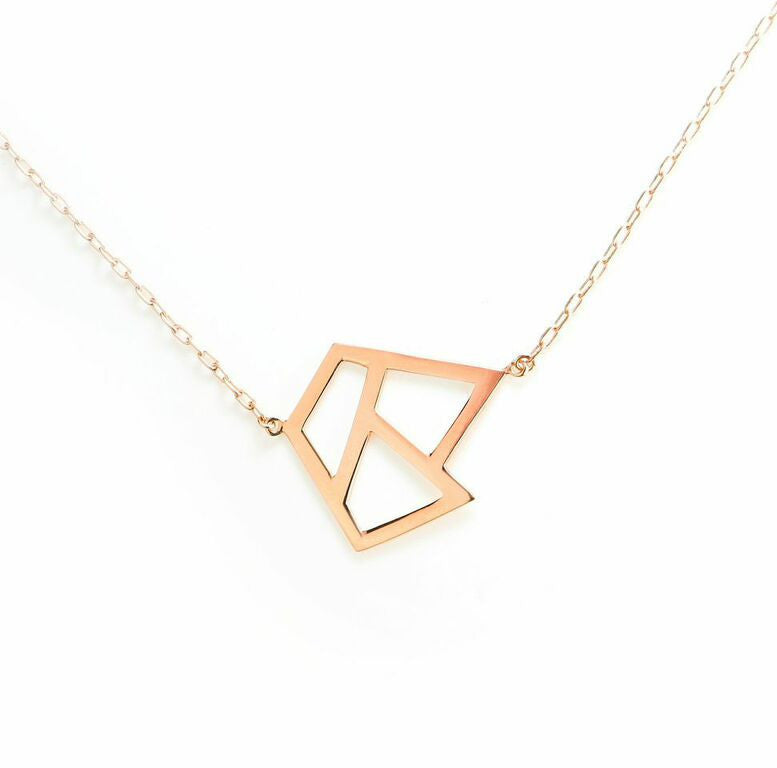 Lattice Triple Necklace - rose gold