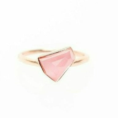 Lattice Boyfriend Ring with Pink Cat's Eye