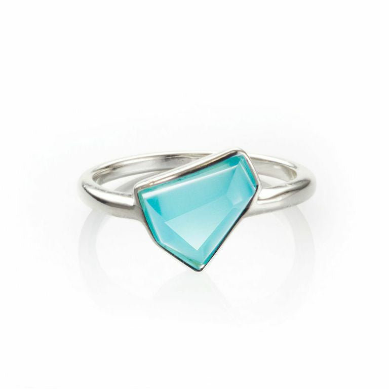 Lattice Boyfriend Ring with Blue Cat's Eye