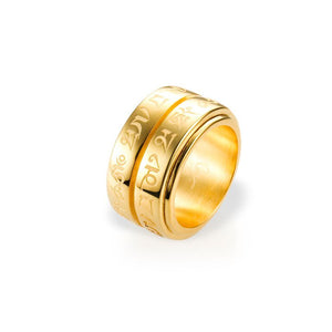 Mantra Double Spinning Ring - gold