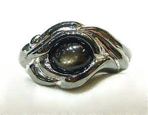 Dragon Eye Ring with Black Star Sapphire