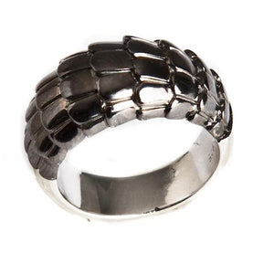 Dragon Scales Ring with Black Plating