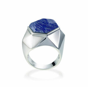 Lattice Cocktail Ring - blue quartz