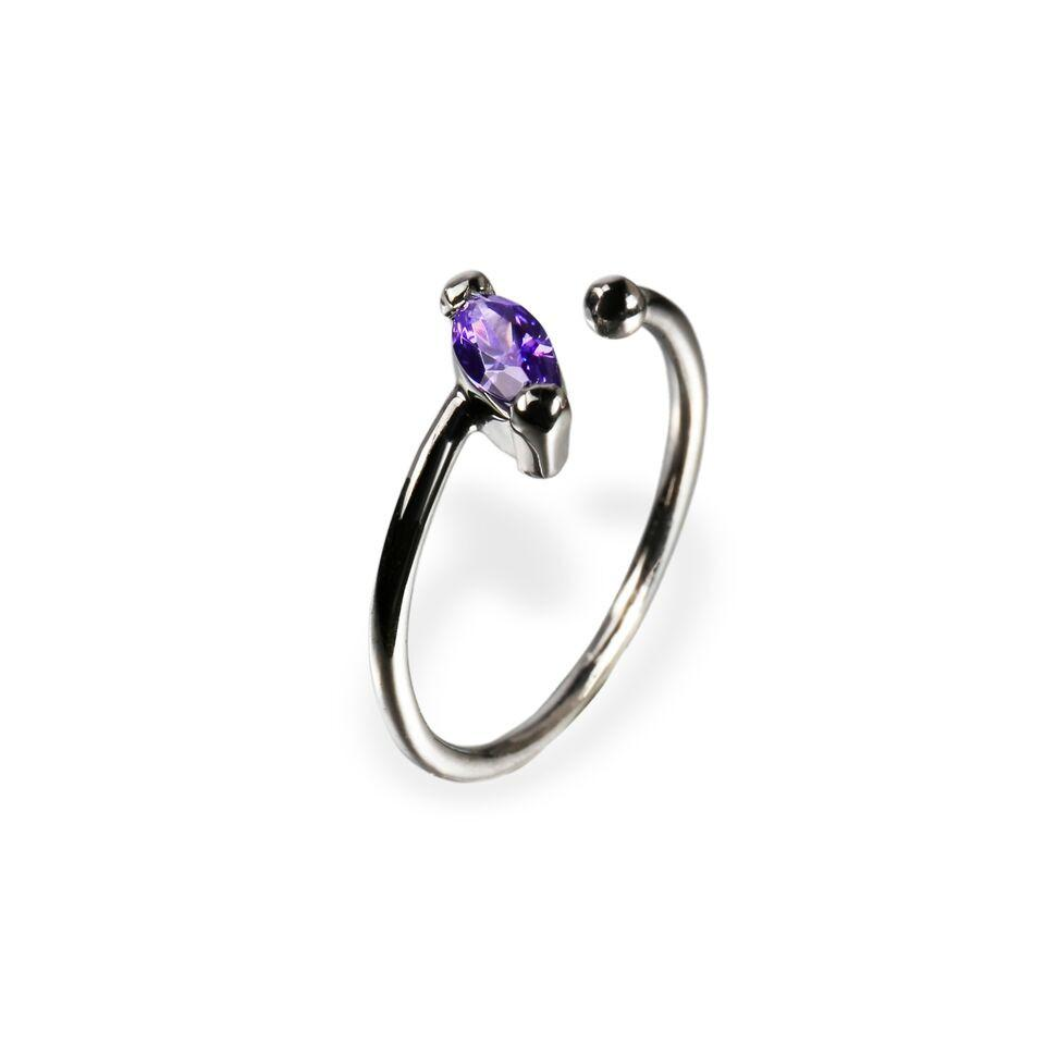 Ring - Little Jewels - Marquise Cut Open Ring With Swarovski Crystals