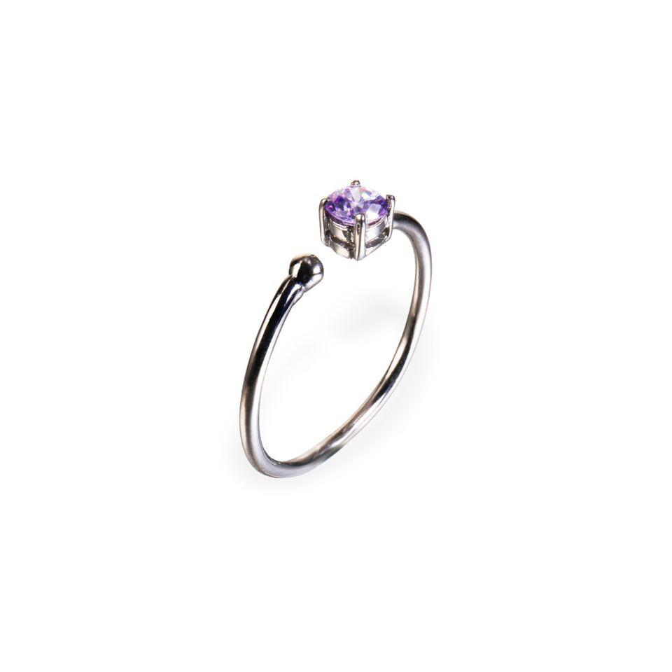 Ring - Little Jewels - Round Cut Open Ring With Swarovski Crystals
