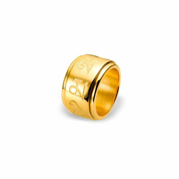 Mantra Spinning Ring - gold