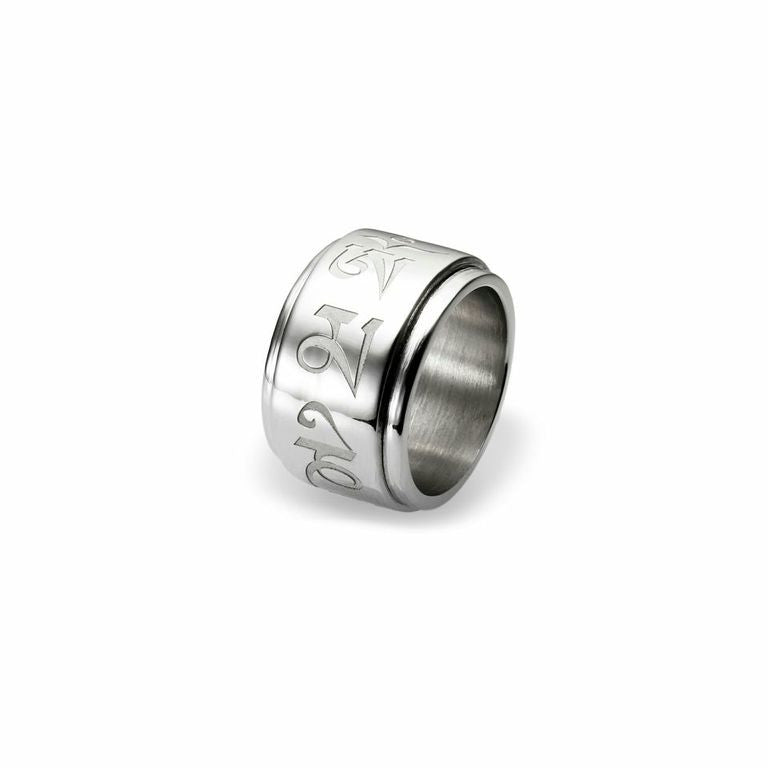 Mantra Spinning Ring - rhodium