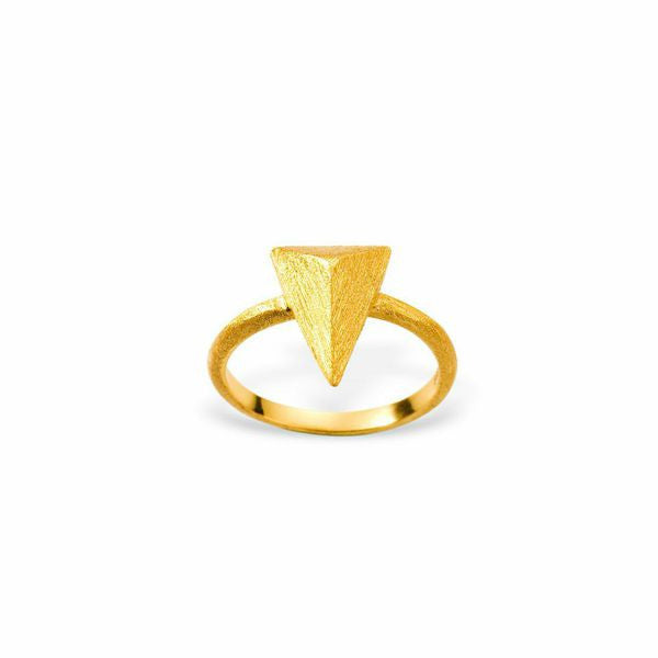 Mantra Triangle Ring - gold