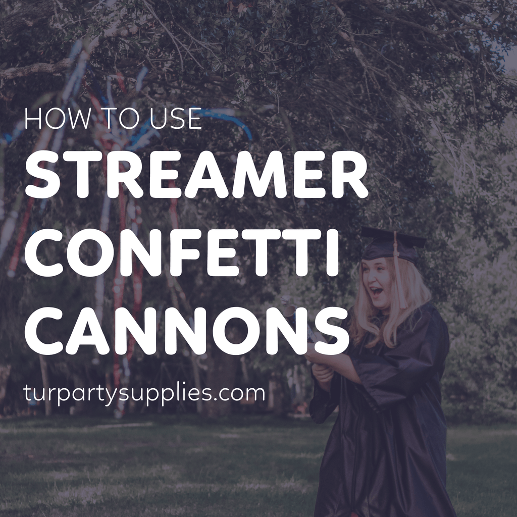 how to use party streamer cannons