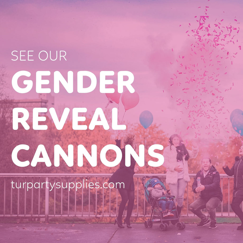 gender reveal confetti powder cannons video compilation