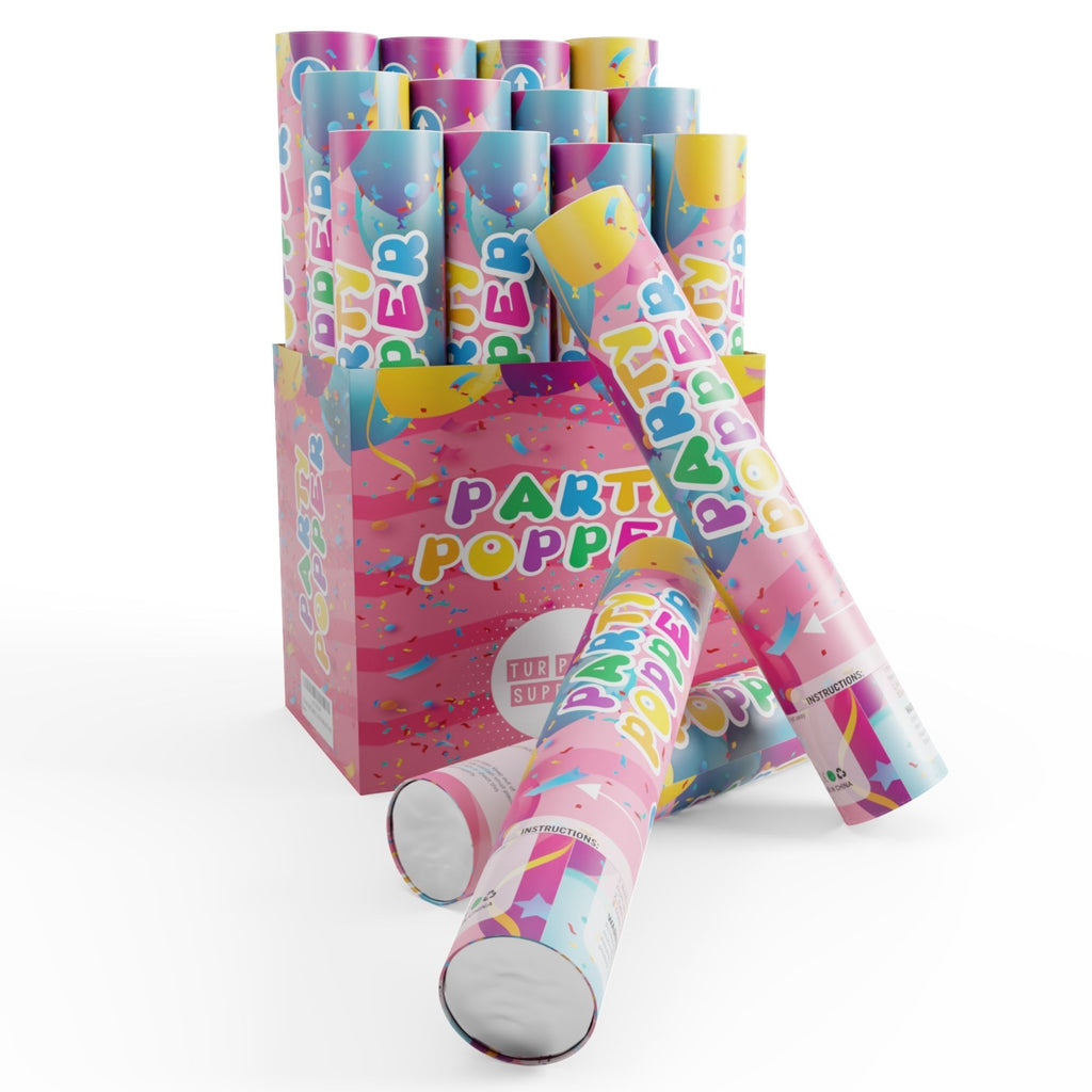 confetti poppers 12 pack side angle
