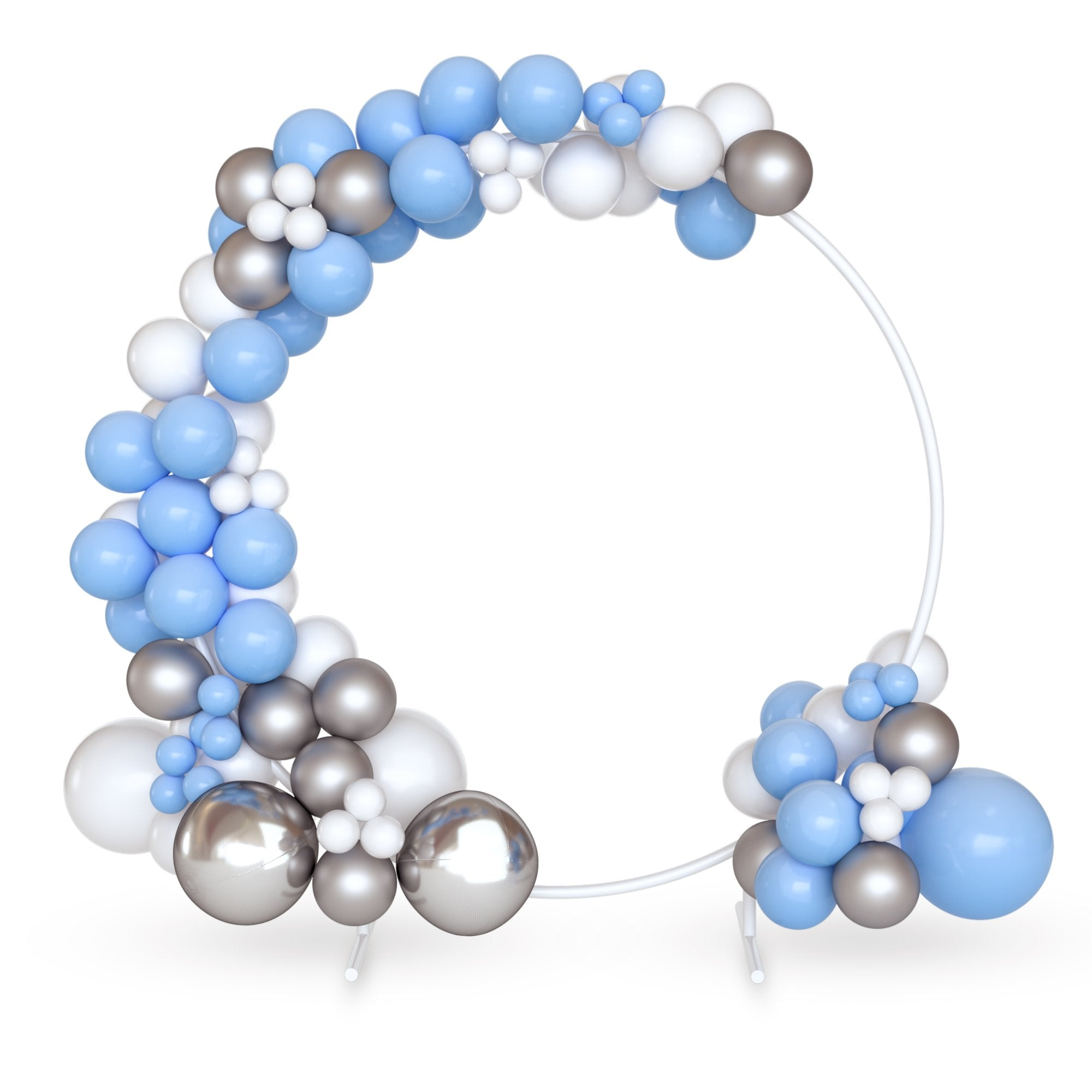 DIY 16 ft Balloon Arch Garland Kit | Blue, White & Silver | 120 Balloons | Birthday Parties, Baby Showers, Gender Reveals | TUR Party Supplies
