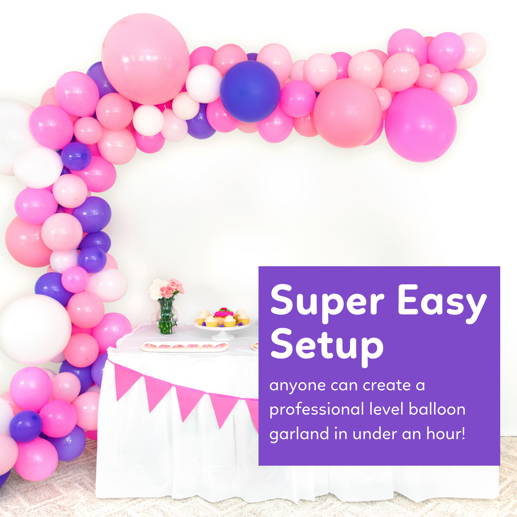 DIY Balloon Garland Kit - Unicorn Pink and Purple Balloon Garland Kit TUR Party Supplies