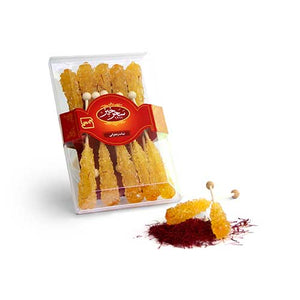 Rock Candy Saffron with Stick -150gr (نبات دسته دار)