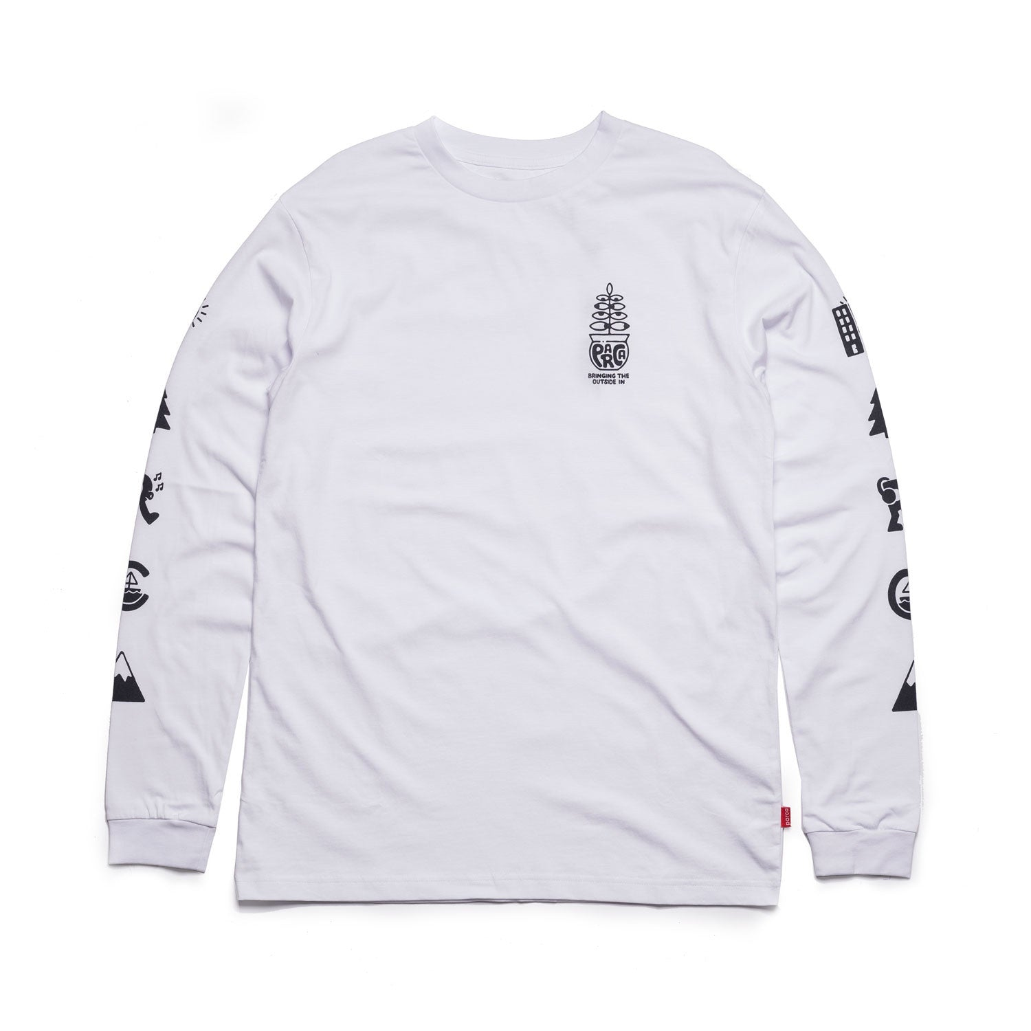 L/S Tee - Elements - White