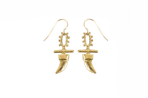 Claw Totem Earring, gold