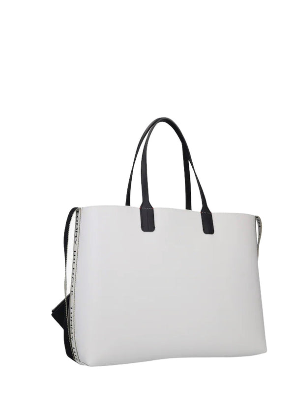 valkoinen tommy iconic tote